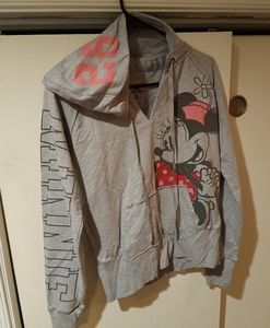 DISNEY - v neck hooded sweater (Minnie)